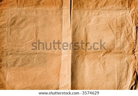 Grunge texture of page background with stains and folds