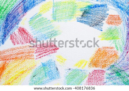 Grunge texture of pastel strokes. Crayons abstract grunge background. Frame design element. Blank for business cards with hand drawing textures. Pencil design elements. - stock photo