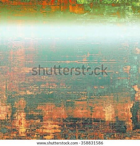 Grunge texture, Vintage background. With different color patterns: yellow (beige); red (orange); blue; green - stock photo