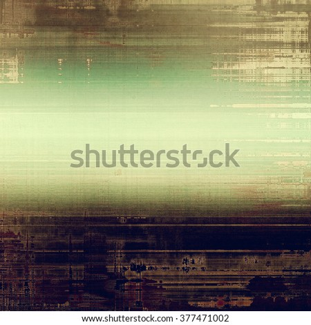 Grunge texture with decorative elements and different color patterns: yellow (beige); brown; green; gray; purple (violet) - stock photo