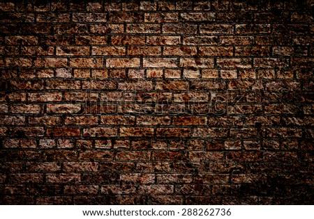 Grunge textured brick wall. - stock photo