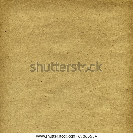 Grunge textured grainy recycled retro paper with natural fiber parts - stock photo