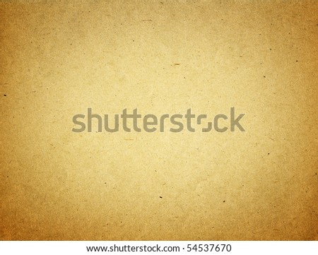 Grunge textured recycled paper with natural fiber parts, lighten center - stock photo