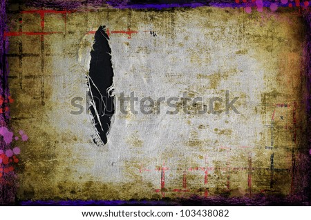 Grunge torn fabric background