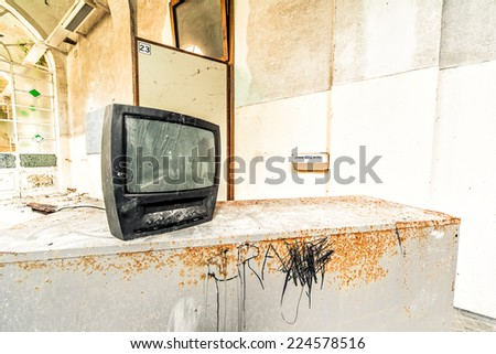 Grunge TV - stock photo