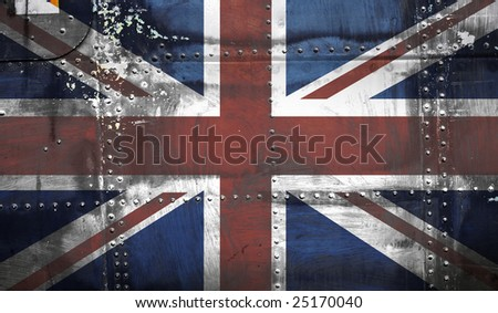 Grunge Union Jack Flag - stock photo