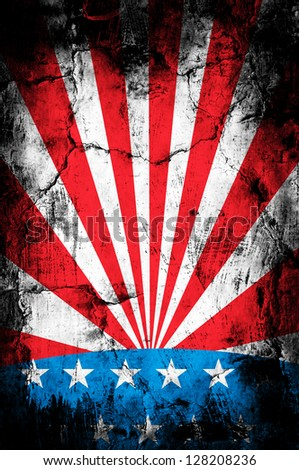 Grunge USA background - stock photo