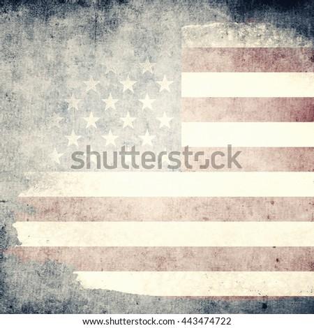 Grunge USA Flag - stock photo