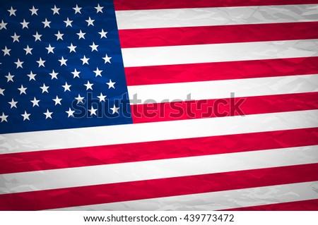 Grunge USA Flag. american america symbol national background art - stock photo