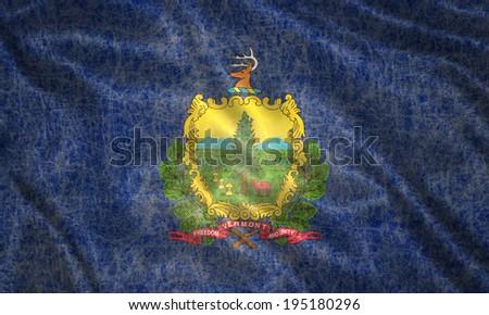 Grunge Vermont state Flag - stock photo