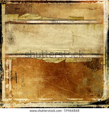 grunge vintage background with place for text - stock photo