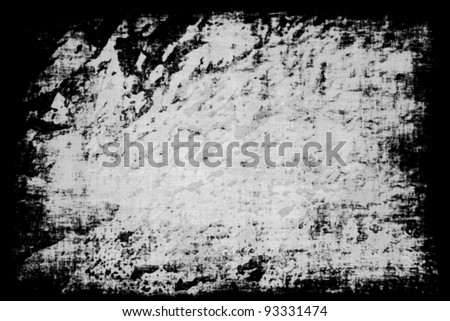 grunge vintage canvas with frame - stock photo