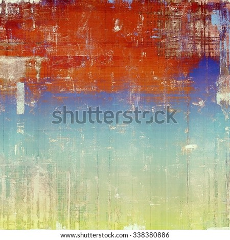 Grunge, vintage old background. With different color patterns: yellow (beige); brown; red (orange); blue - stock photo