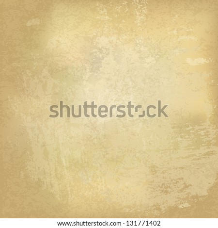 Grunge vintage old paper background. Raster version, vector file available in my portfolio. - stock photo