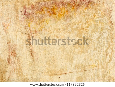Grunge vintage old paper background. Texture of rusty spots