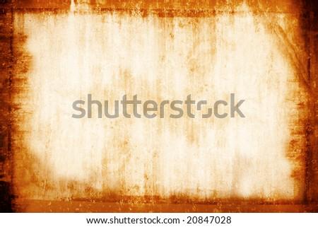 Grunge vintage photo frame background. - stock photo