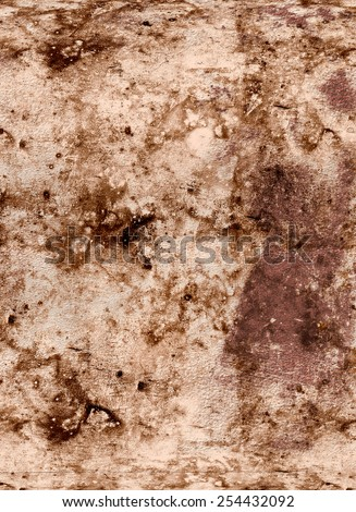 Grunge wall background, brown spots - stock photo