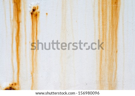 Grunge wall background with sags of rust - stock photo