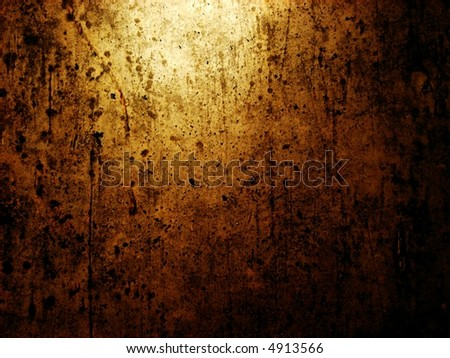grunge wall horizontal - stock photo