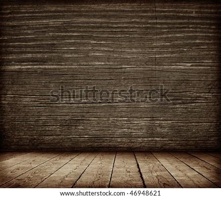 Grunge wall interior - stock photo