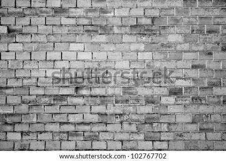grunge wall texture, black and white version - stock photo