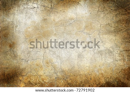 Grunge wall with cracks - stock photo