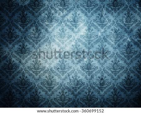 grunge wallpaper pattern. - stock photo