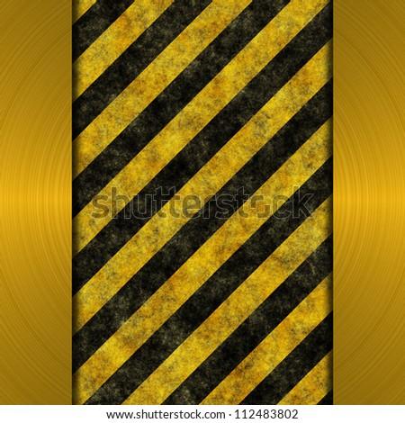 grunge warning stripes background - stock photo