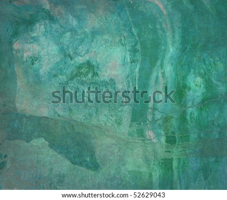 Grunge Water Abstract on Canvas Art Background