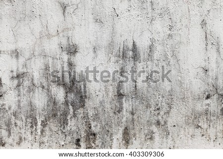 Grunge White Concrete Wall Background - stock photo