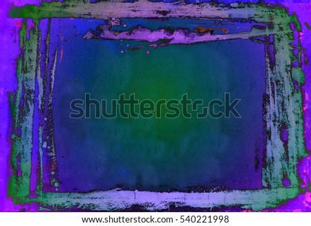 Grunge White Paint Brushstrokes Frame Background Stock Illustration ...