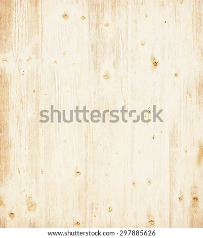 Grunge wooden board painted  light beige. - stock photo