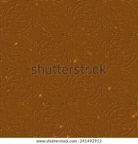 Grunge wrought old metal background with smudge surface in copper color - stock photo