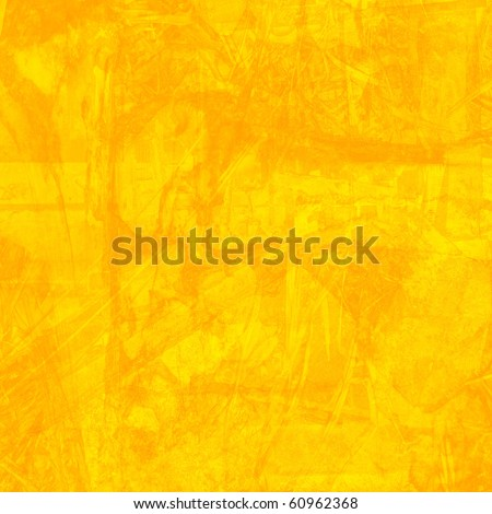 Grunge Yellow Background - stock photo