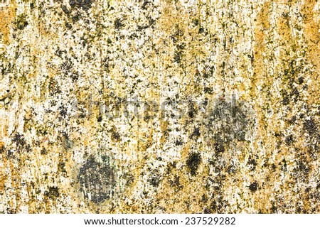 Grunge yellow rusty rotten wall texture. - stock photo