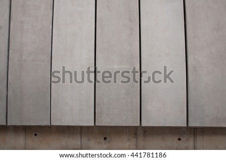 Grungy and smooth bare concrete wall - stock photo