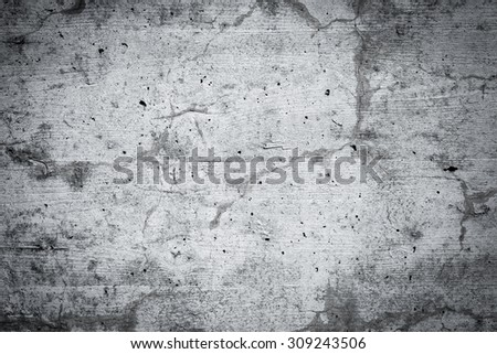 Grungy and smooth bare concrete wall for background and for texture - stock photo