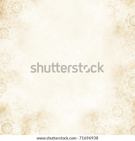 Grungy Background,old paper wiht lace retro wedding invitation or greeting card. illustration - stock photo