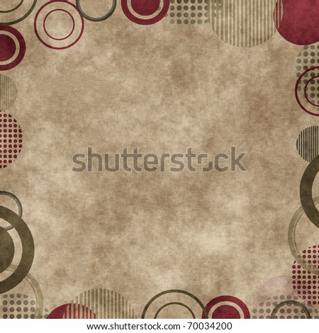 Grungy Background.old paper with circles , abstract background