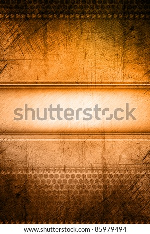 Grungy brown and orange tone background - stock photo