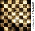 Grungy chessboard illustration - stock photo