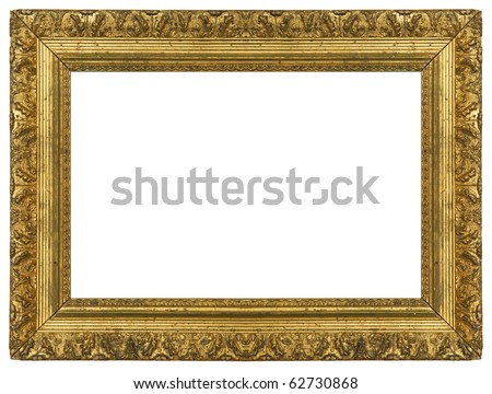 Grungy Gold Frame - stock photo