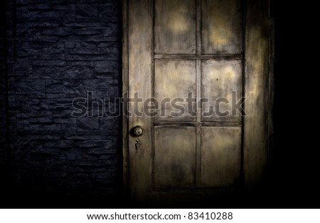 Grungy golden door