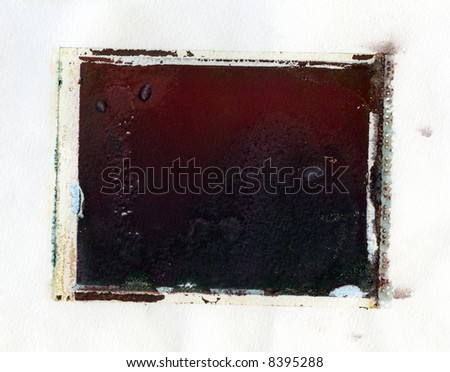 Grungy instant photo transfer texture - stock photo