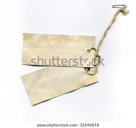 grungy labels - stock photo