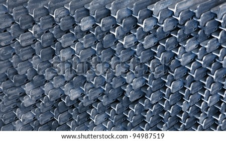 Grungy metal textured background - stock photo