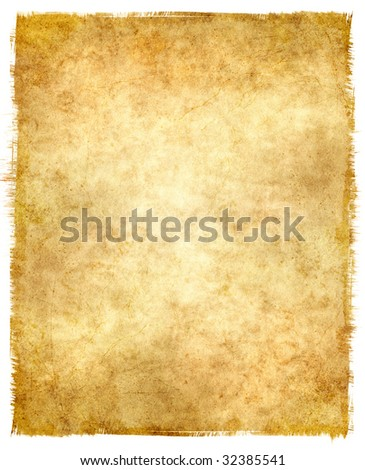 Grungy old paper with tattered edges. - stock photo