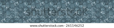 Grungy Panoramic Tiled Background (Letterbox Format)  - stock photo