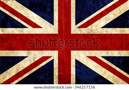 Grungy paper flag of Great Britain - stock photo
