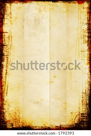 grungy pattern on an old vintage piece of paper - stock photo